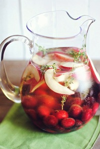 cherry peach sangria